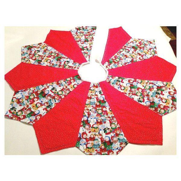 Christmas Tree Skirt, Snowman and Red, Tree Skirt, Christmas Skirt
