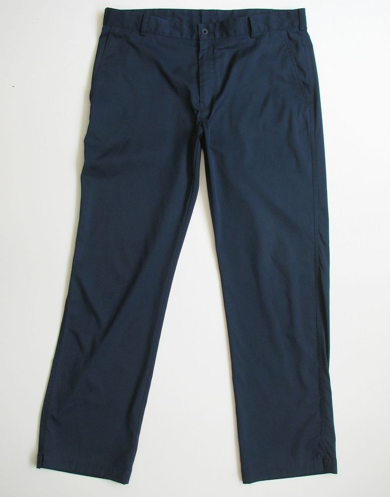 Nike golf dri fit mens 36 x 32 navy blue pants nike