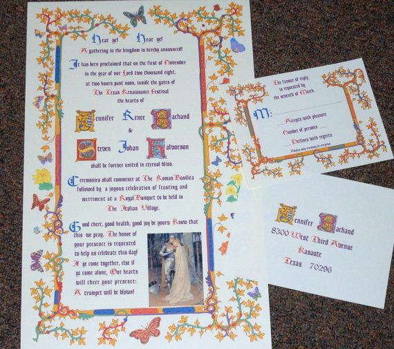 french renaissance wedding invitation scroll | renaissance, Wedding invitations