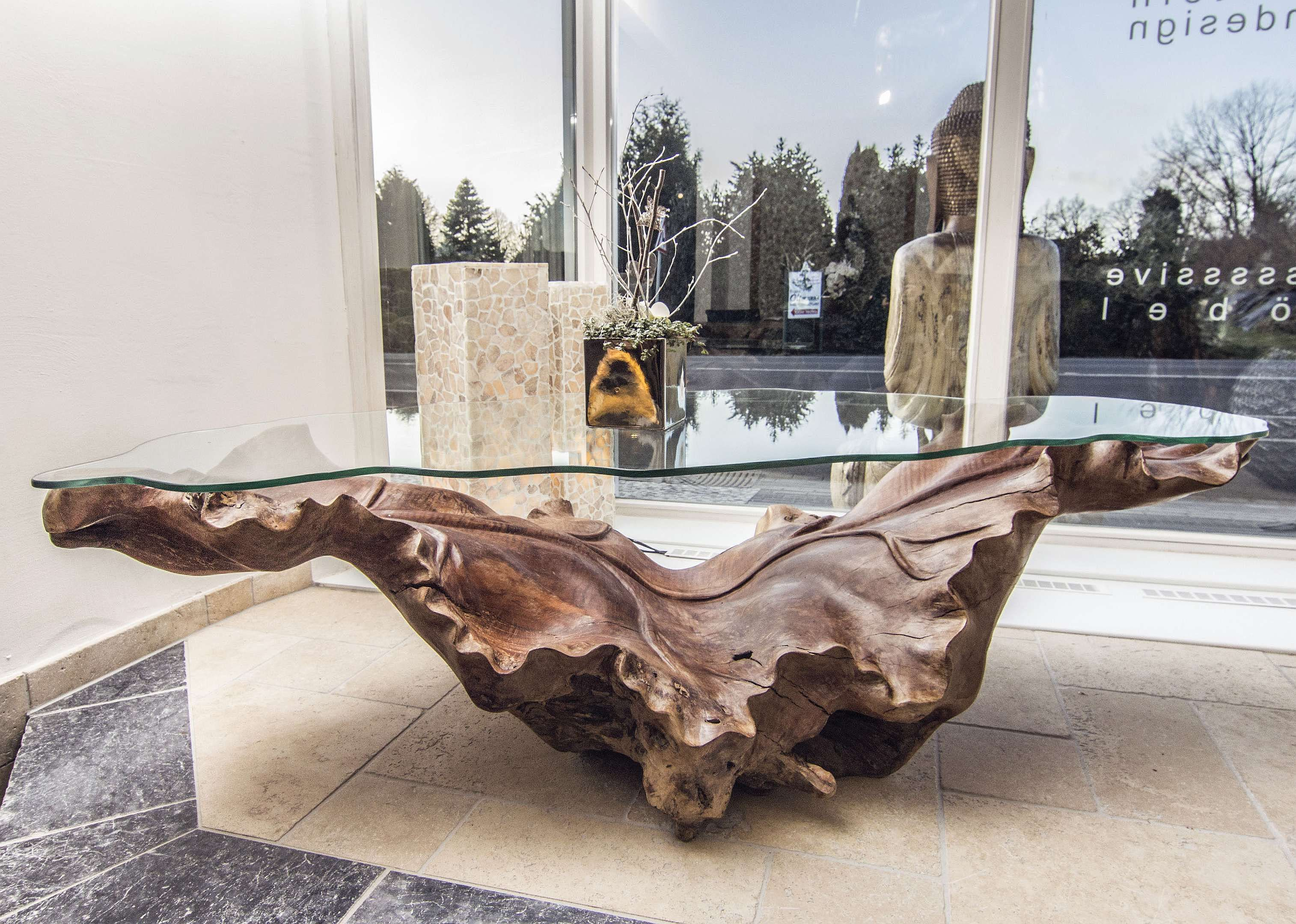 Wurzeltisch Couchtisch Baumwurzel Couchtisch Tisch Design Tisch