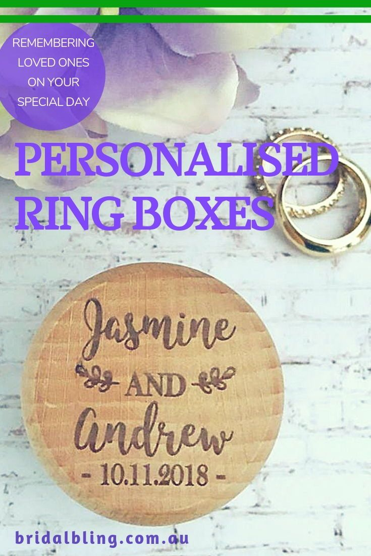 Personalised Name Ring Box Custom Made Ring Box Country Style