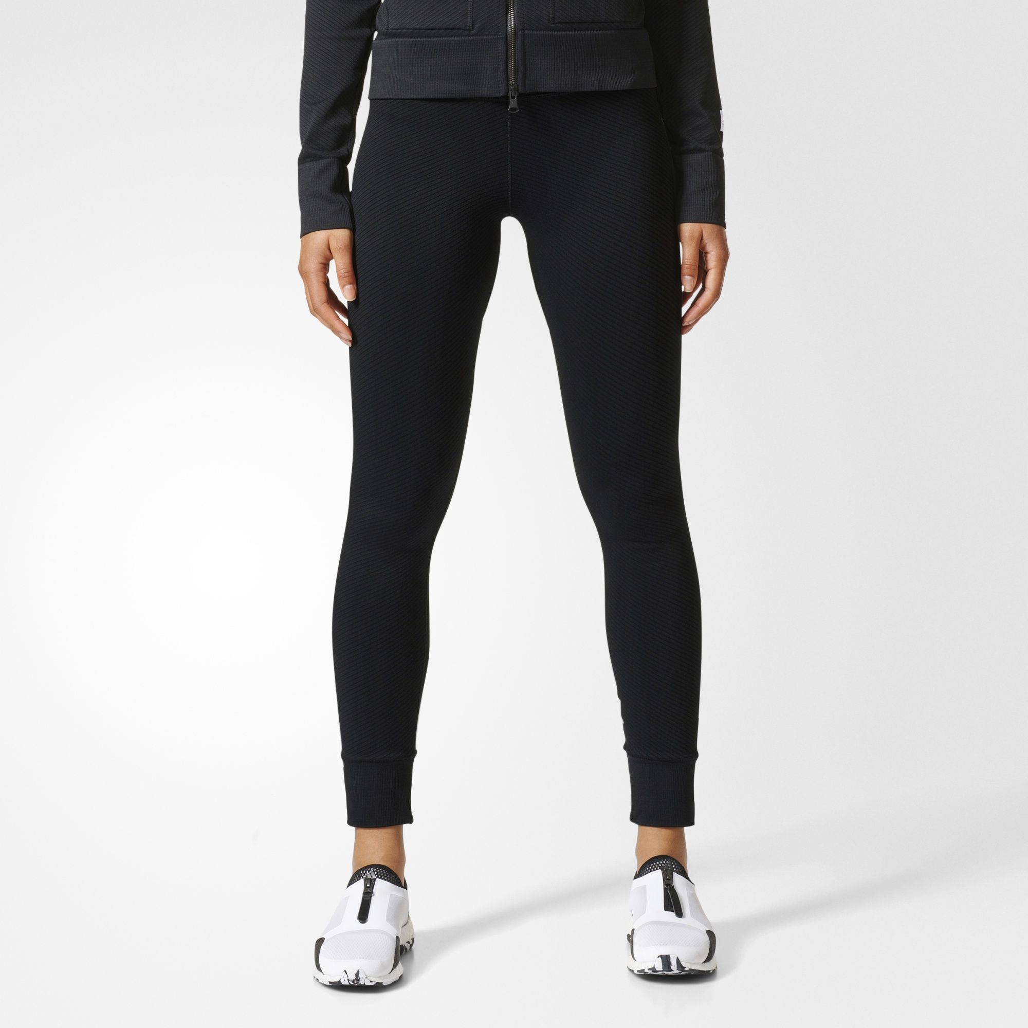 Adidas UK Shop - Adidas Athletics x Reigning Champ Primeknit Tights (Black) for Women