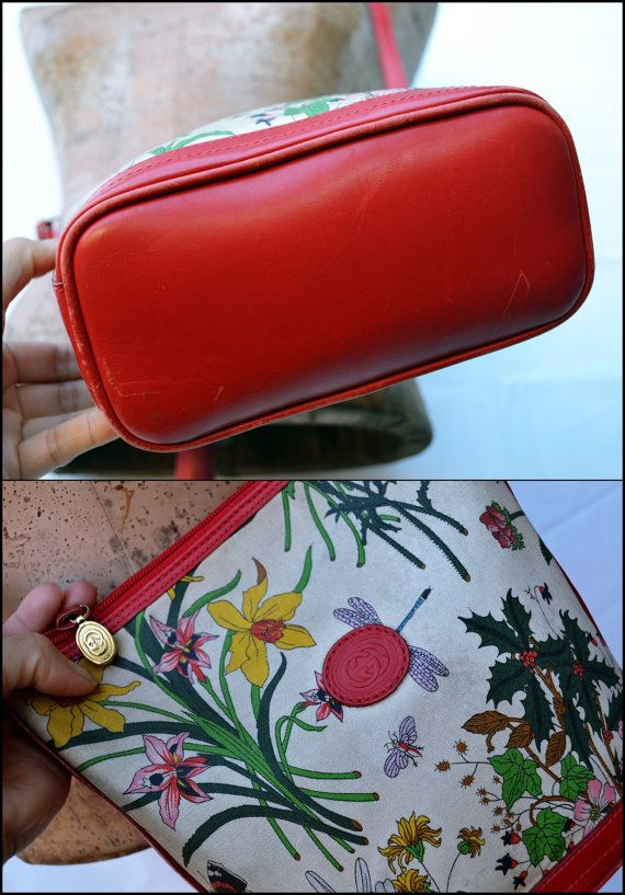 bffde3c383bd03 Authentic Vintage Gucci Floral Shoulder Crossbody by stellanjune  #guccifloral #gucciflora