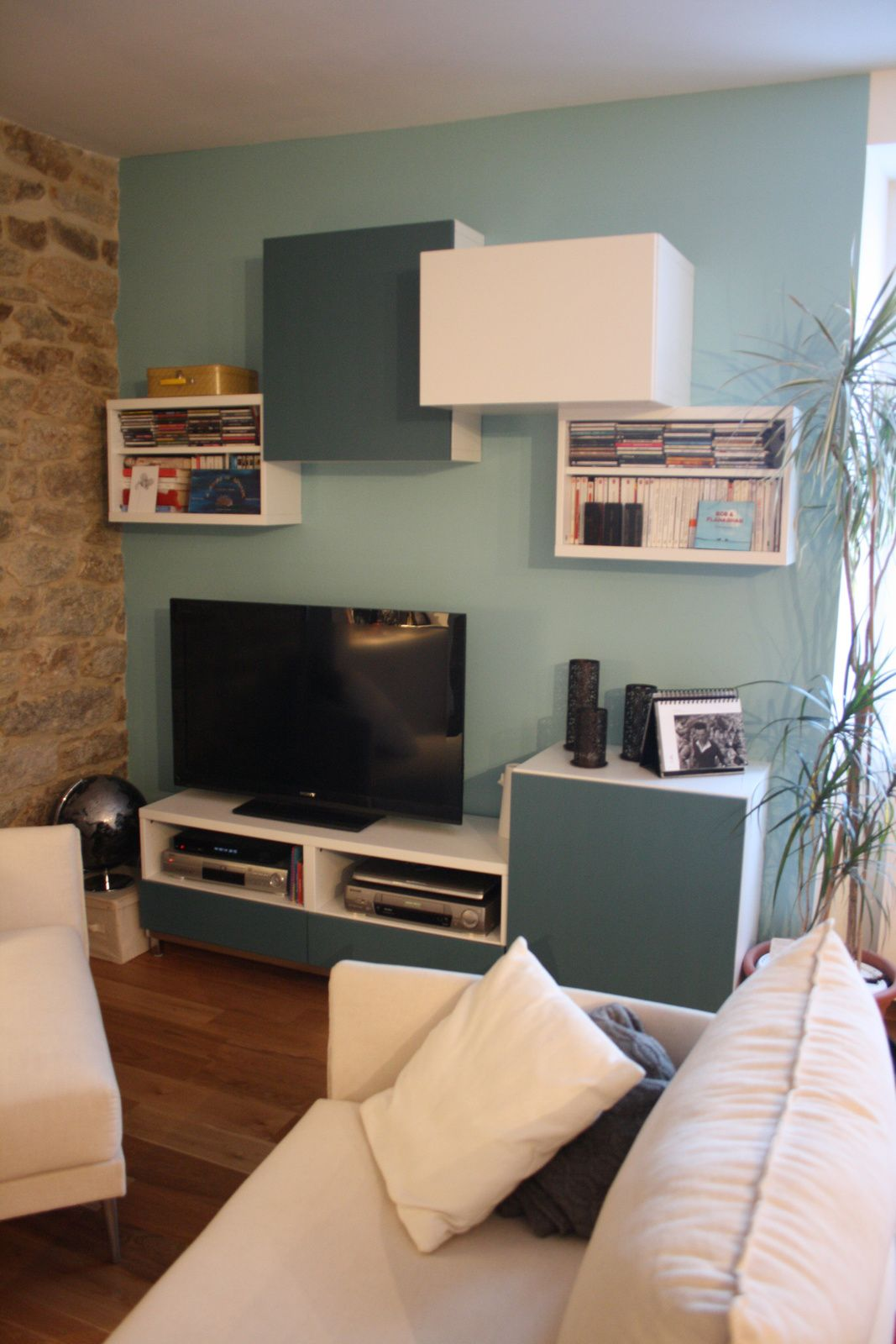 Album 5 Banc Tv Besta Ikea R Alisations Clients S Rie 2  # Meuble Bibliotheque Tv Ikea