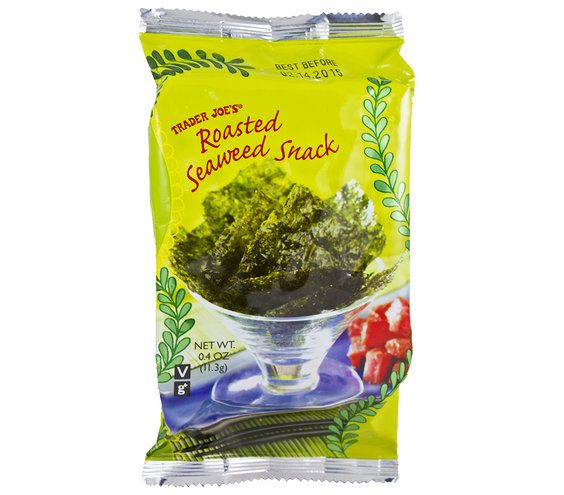 Trader Joe's Roasted Seaweed Snack   According to Real Simple editors, anyway.Take a peek into our grocery carts, and add these favorites to your shopping list.