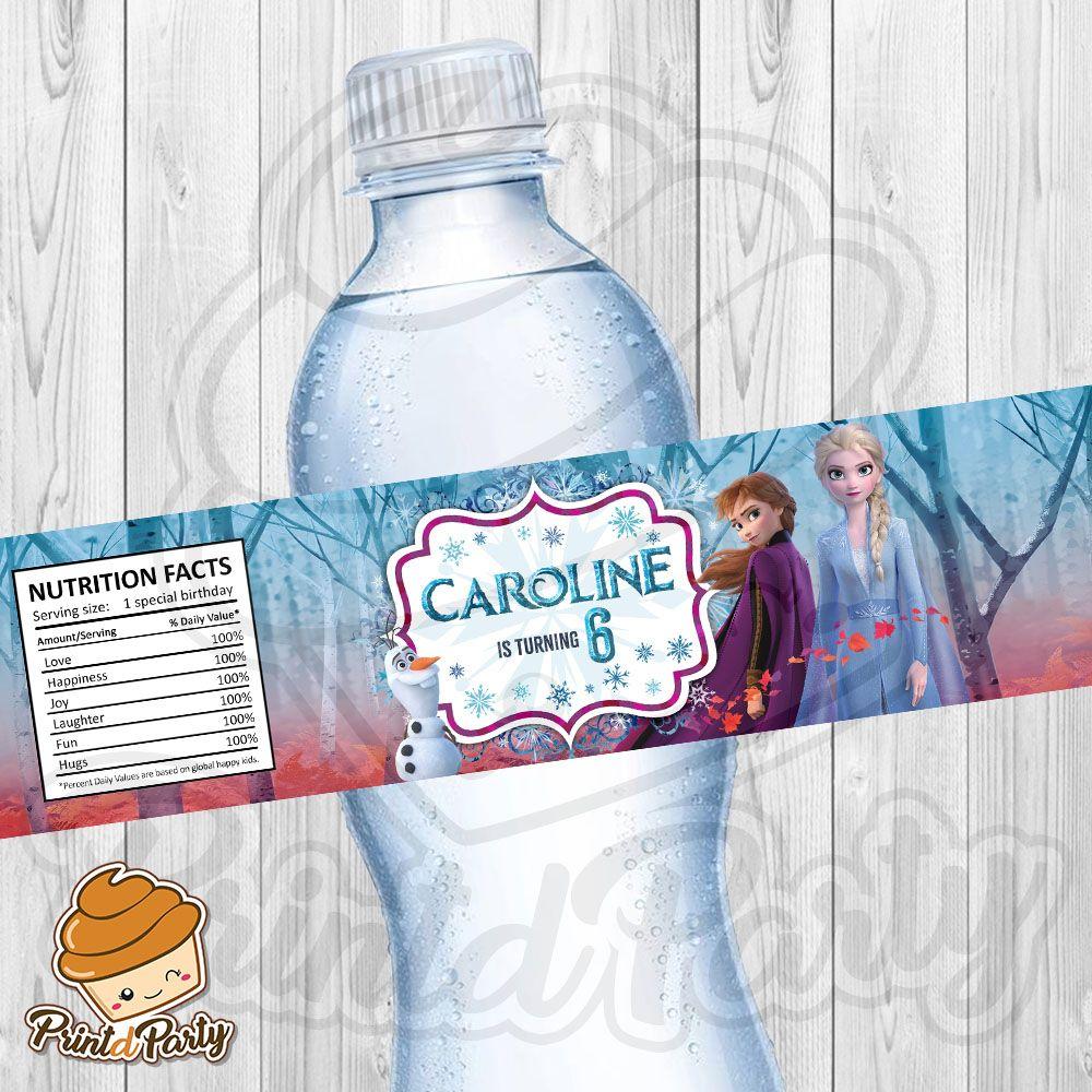 Frozen 2 Water Bottle Label Bottle Water Bottle Bottle Labels