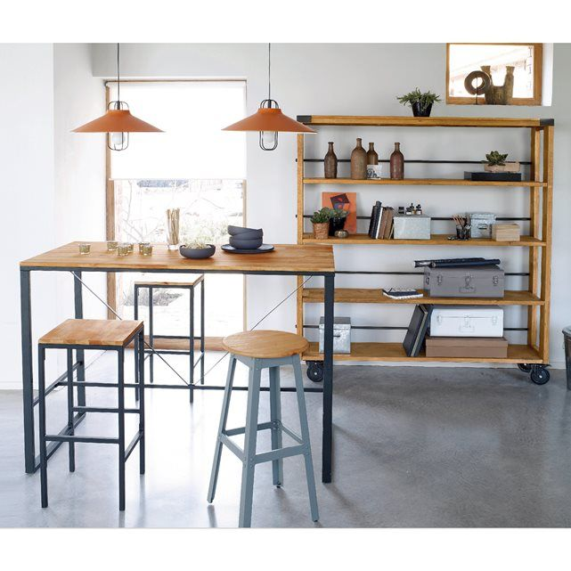 Bartisch Hiba La Redoute Interieurs Bar Dining Table Square