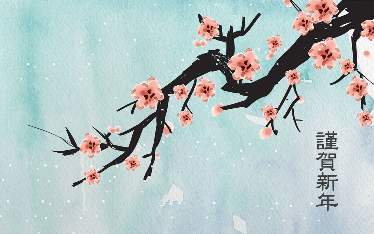 Chinese New Year Art Cards Ink 9 Wallpapers Japanese Art Japanese Artwork Art Wallpaper