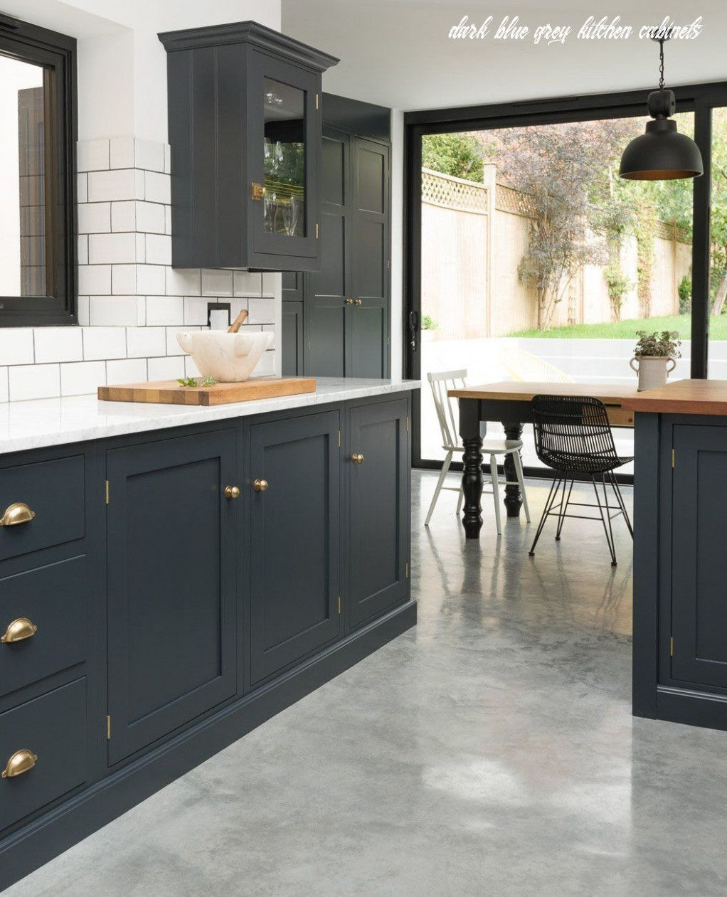 Why You Should Not Go To Dark Blue Grey Kitchen Cabinets In 2020 Traditional Kitchen Design Devol Kitchens New Kitchen Cabinets