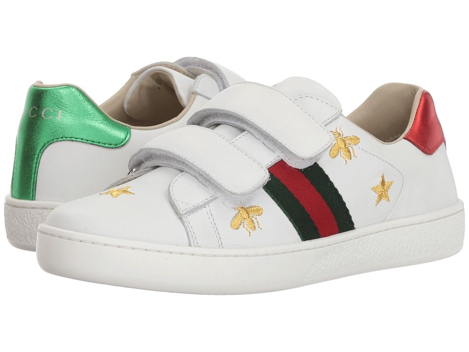 2b06eb0b26e Gucci Kids New Ace V.L. Sneakers (Little Kid) Kid s Shoes Soft Sand ...