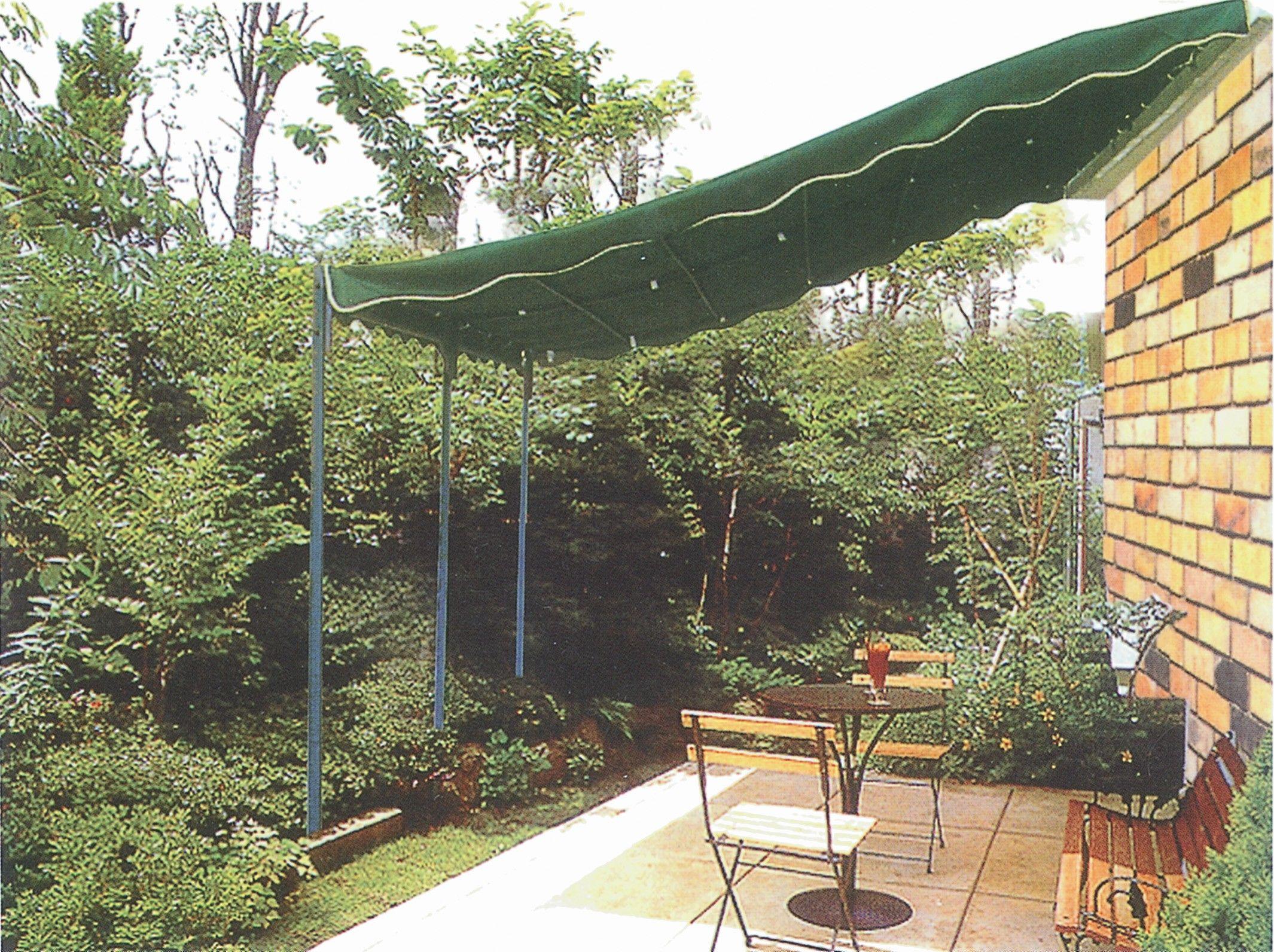 Veranda in ferro gazebo per giardino con copertura verde - Costruire veranda in giardino ...