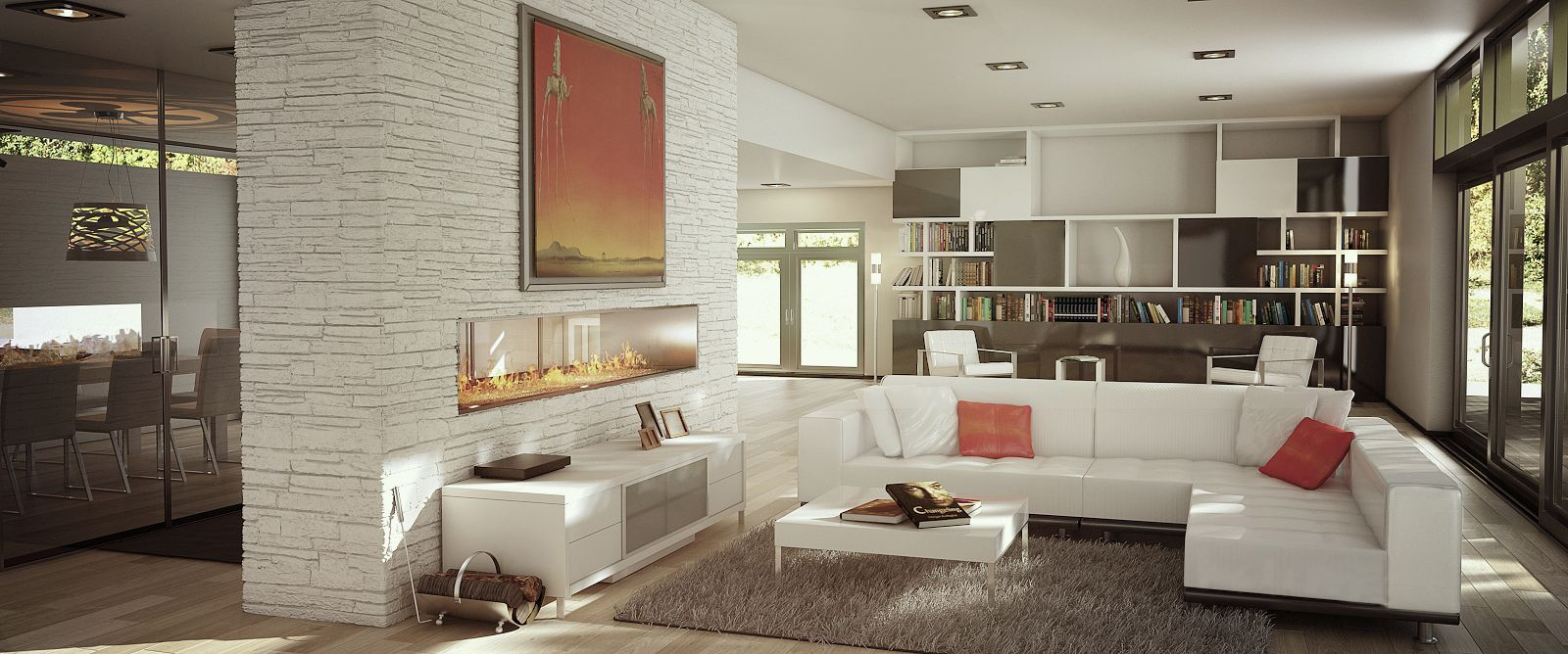 Amazing Modern Modani Home Featuring Out Gavin Coffee Table, Phantom Sofa, Lucide  Floor Lamp And Images