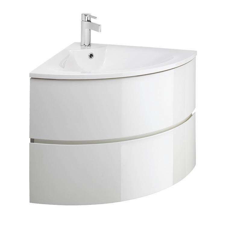 Crosswater Bauhaus Svelte White Gloss 60 Corner Vanity