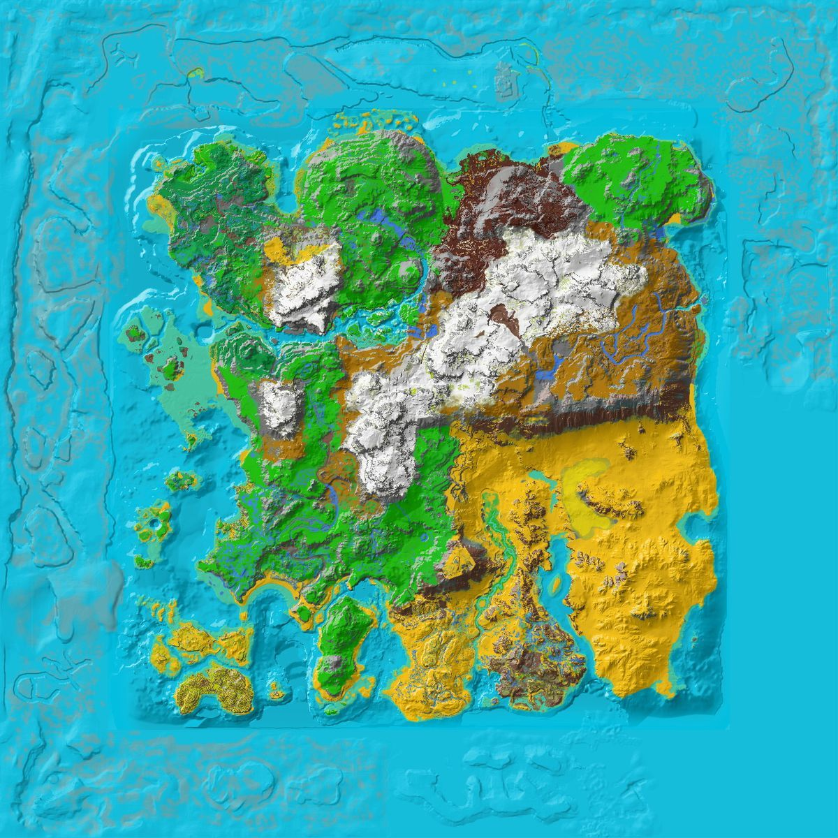 Ark Karte Scorched Earth.Resource Map Ragnarok Ark Ragnarok Map Topographic Map Map