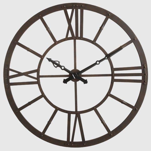 Huge Round Metal Wall Clock Metal Clock Oversized Wall Clock Metal Wall Clock