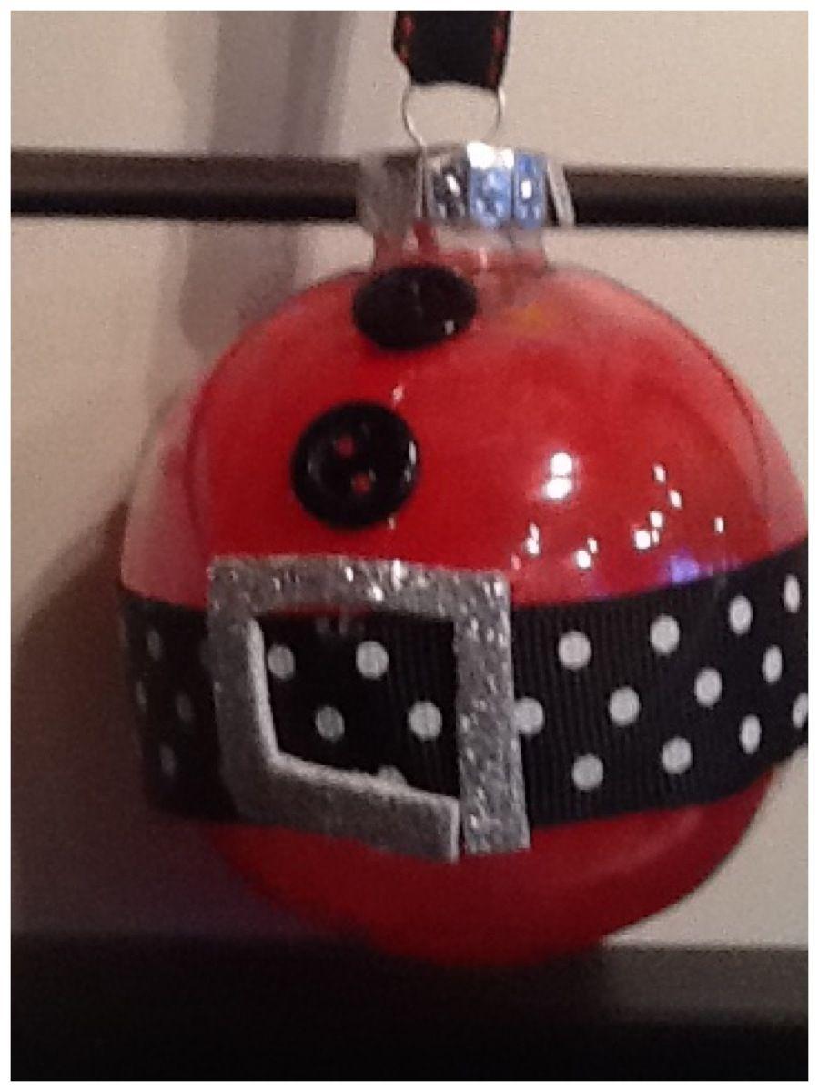 Boule père Noël, Boule transparente, avec crayon de cire râpé