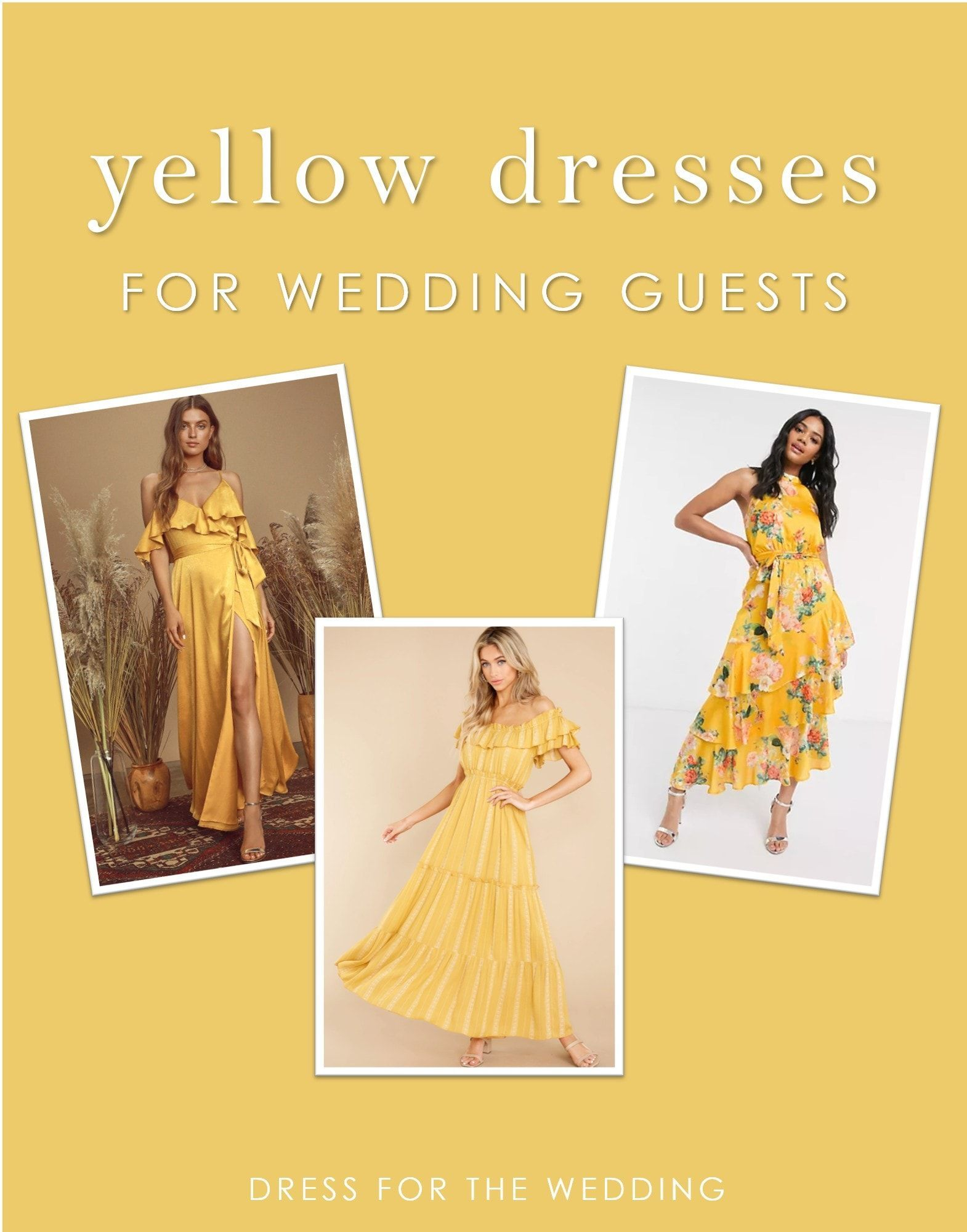 Yellow Dresses For Weddings Dress For The Wedding In 2021 Yellow Wedding Dress Yellow Dress Wedding Guest Dress [ 2001 x 1570 Pixel ]