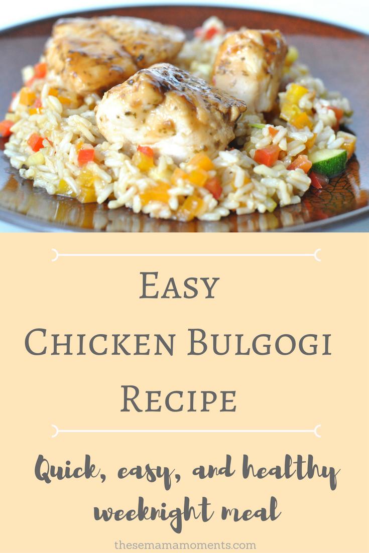 Easy Chicken Bulgogi | Recipe | Recipes, Chicken bulgogi ...
