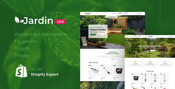 Jardin Gardening Houseplants Equipment Responsive Shopify