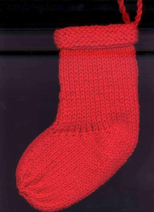83f7850e6 Basic Christmas Stocking knitting pattern - Quick and Easy! Courtney ...