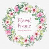 Photo of Scarica Floral Frame Background gratis
