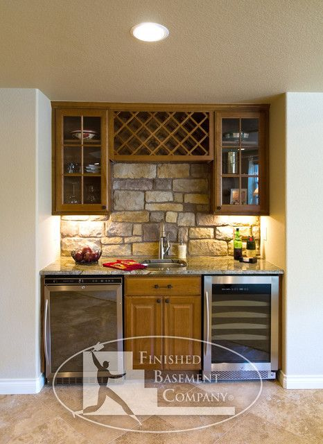 Bar Area With Wine Rack And Fridge Match Style To Between Post