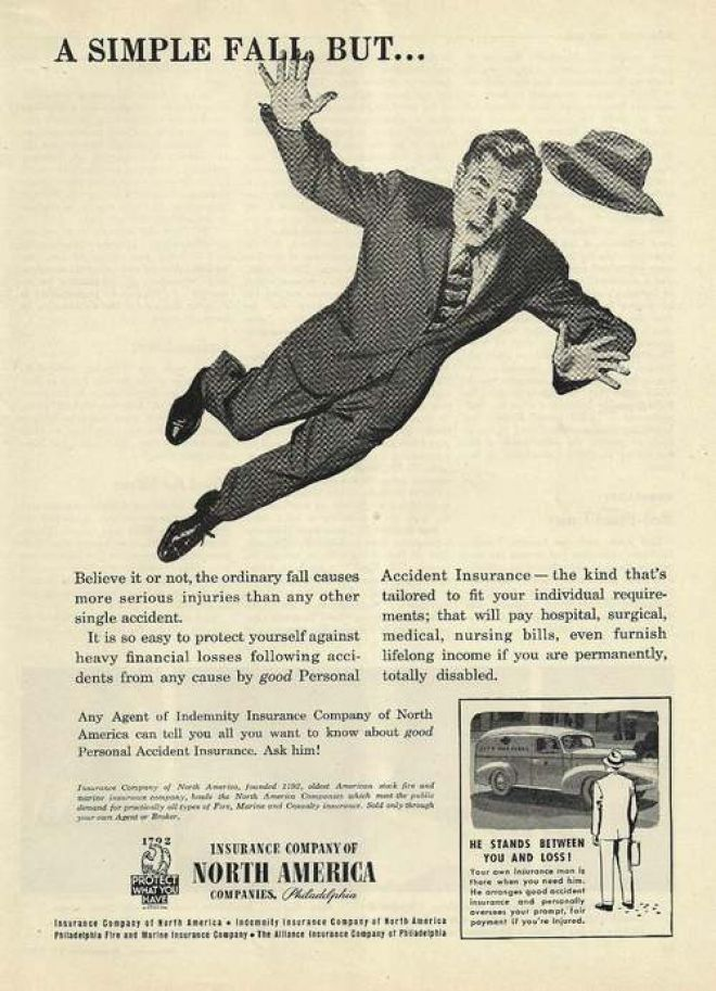 "old insurance  Old vintage ""Personal Accident Insurance"". 