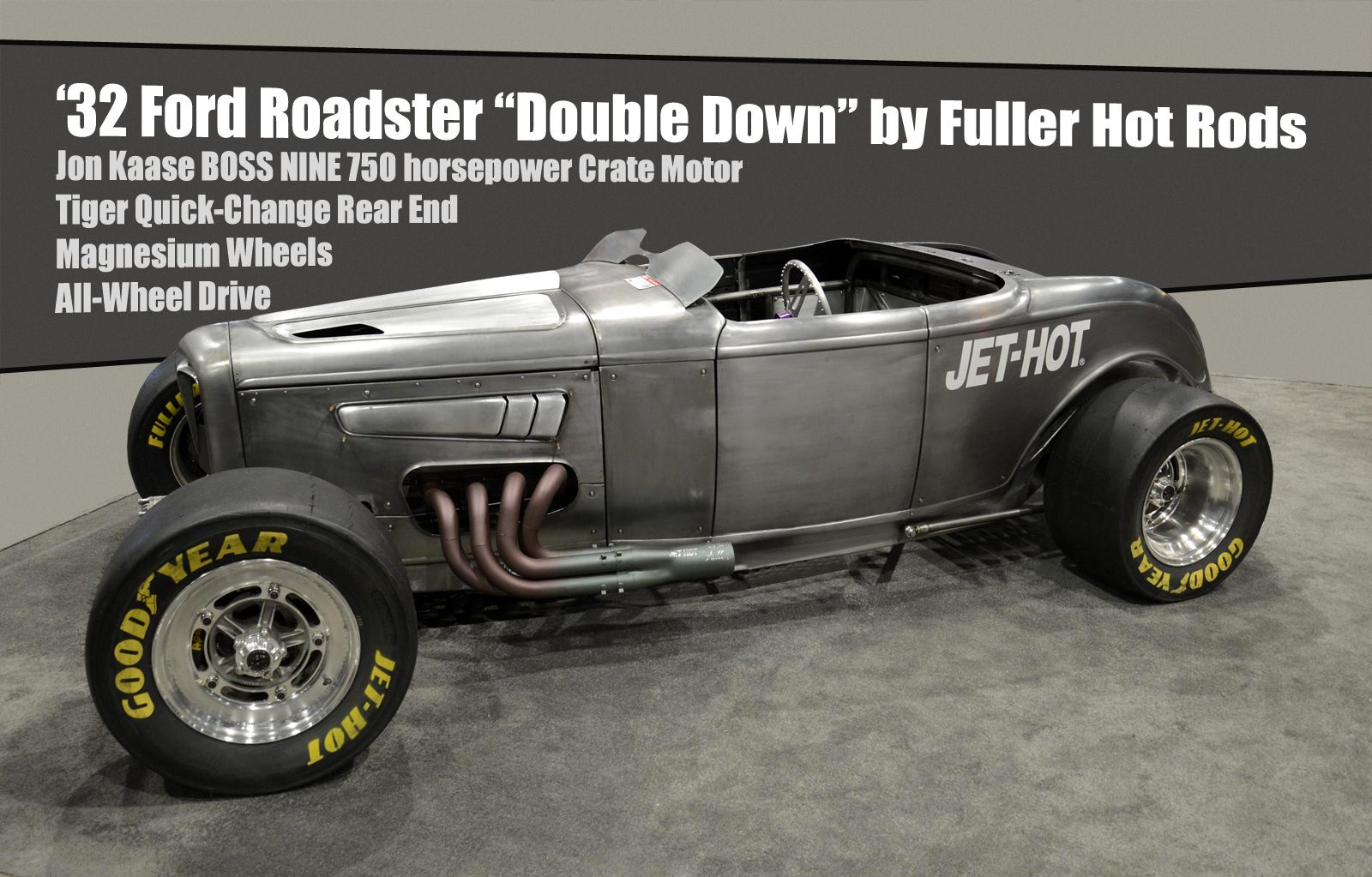 Double Down  750 horsepower AWD 1932 Ford Roadster Hot Rod - Diseno-art & At this yearu0027s SEMA show Fuller Hot Rods showed up with a u002732 ... markmcfarlin.com