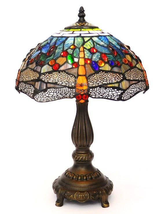 Tiffany Lamps Yellow Dragonfly Tiffany Style Handcrafted Table Lamp Home Supplies Tiffany Style Table Lamps Tiffany Table Lamps Table Lamp