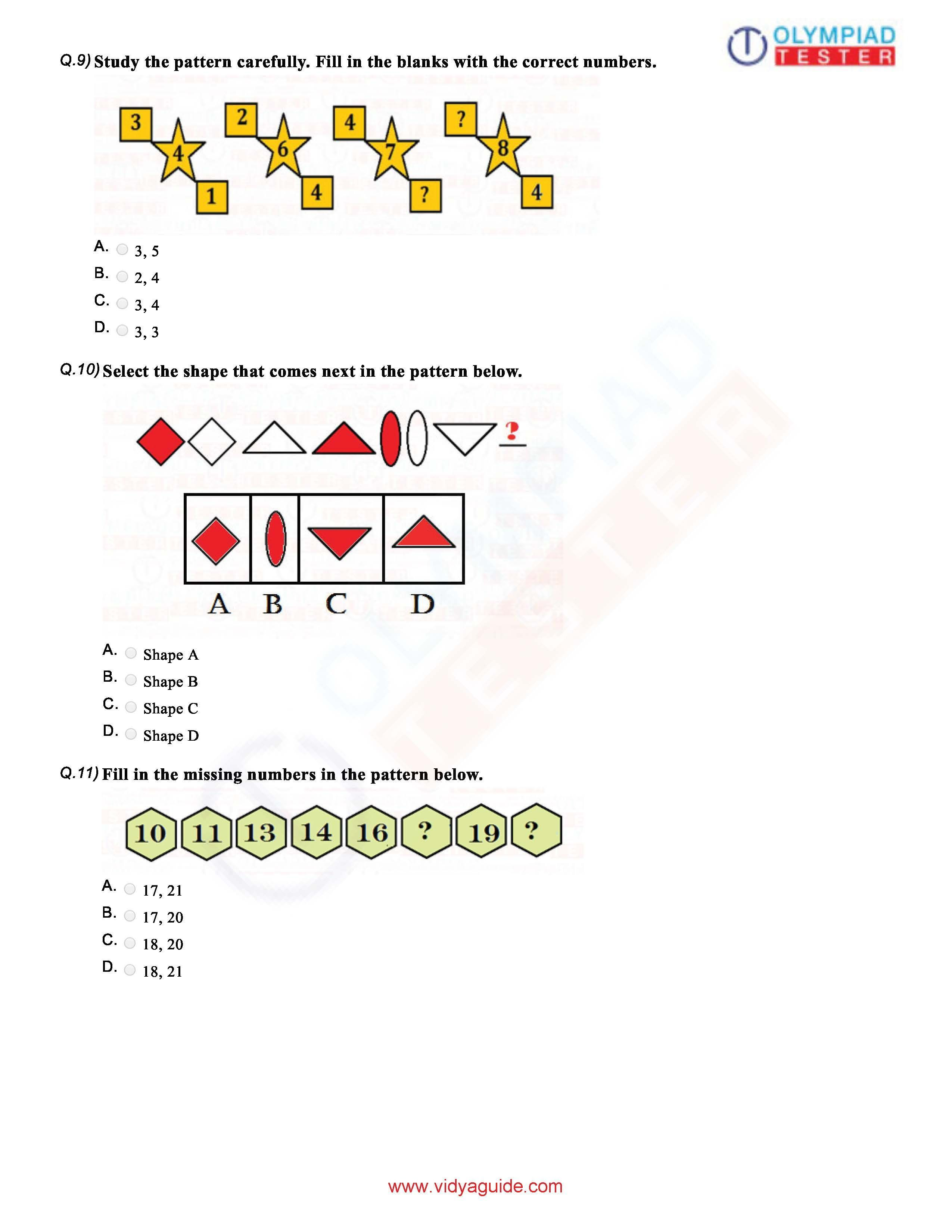 Download Grade 1 Math Olympiad Sample Paper A Pdf Worksheet On Our Website Clas Imo Free Course Of Olympiadtester Ha Research In Mathematic