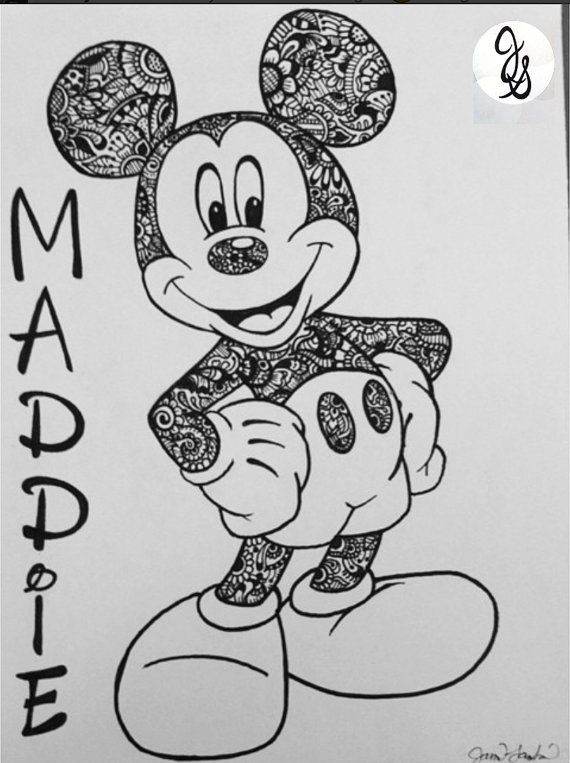 Minnie mouse coloring pages easy designs ~ Floral Printed Mickey / Minnie Design by byjamierose on ...