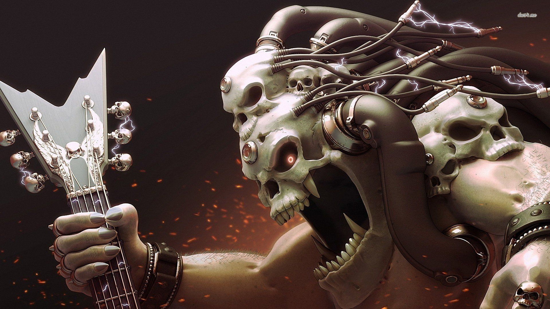 rocker skeleton wallpaper » walldevil - best free hd desktop and