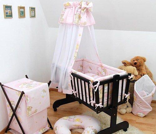 6 Piece Baby Bedding Set To Fit Rocking Crib / Swinging Crib / Nursery / Canopy & 6 Piece Baby Bedding Set To Fit Rocking Crib / Swinging Crib ...