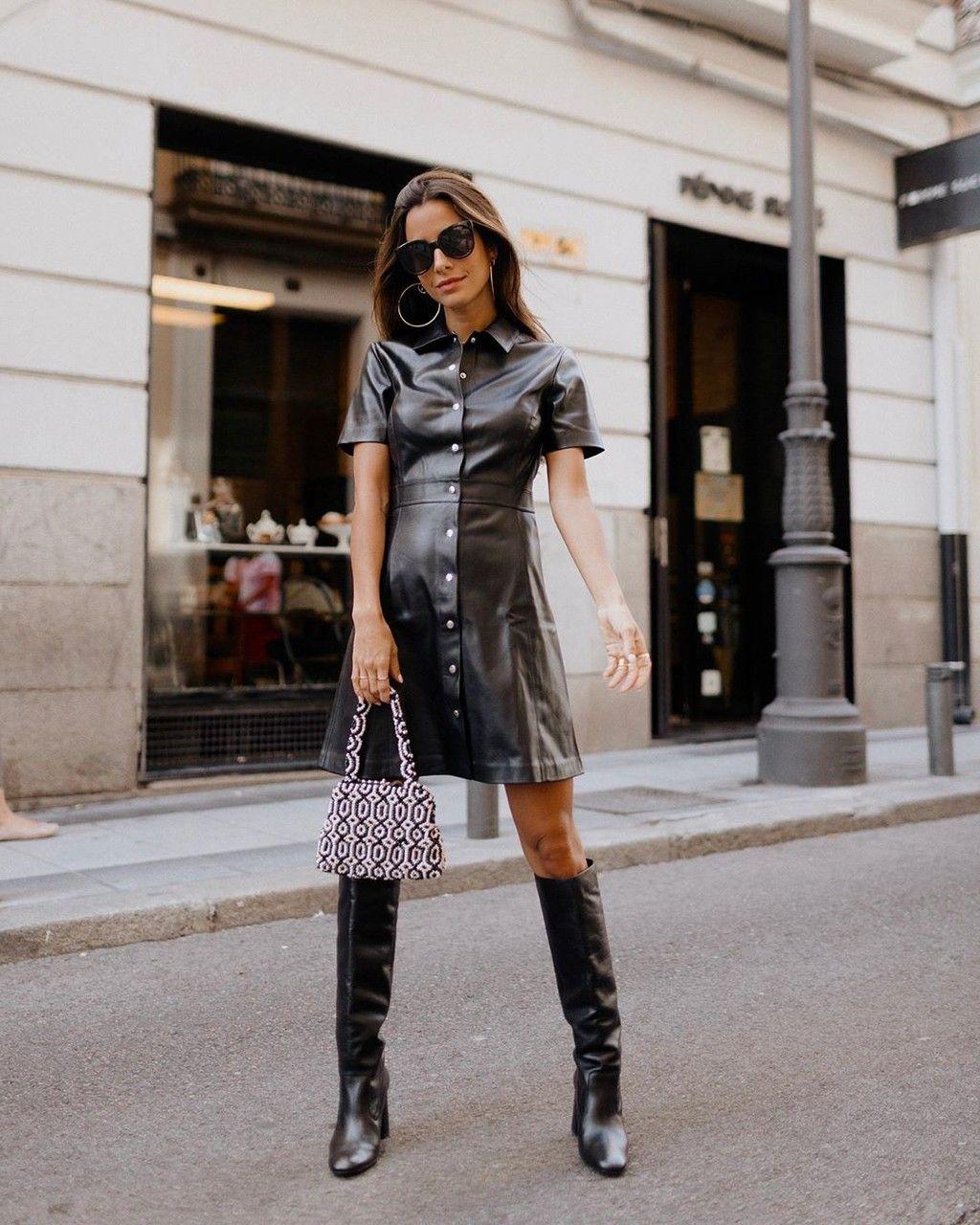 13 Prendas Efecto Cuero Con Los Que Sumarte A La Tendencia Más Rockera Trendencias Mode Mode Für Frauen Frau