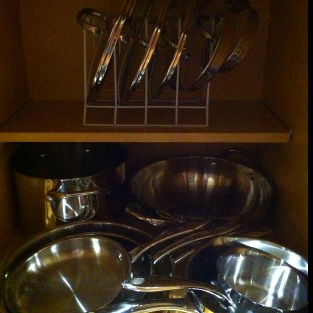 pots and pans organizer diy pinterest. Black Bedroom Furniture Sets. Home Design Ideas