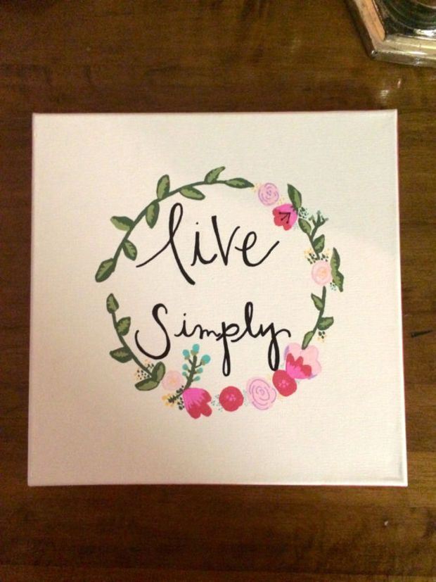 Live Simply Canvas Quote Painting Home Decor Wall Art Canvas Painting Quotes Simply Canvas Painting Quotes