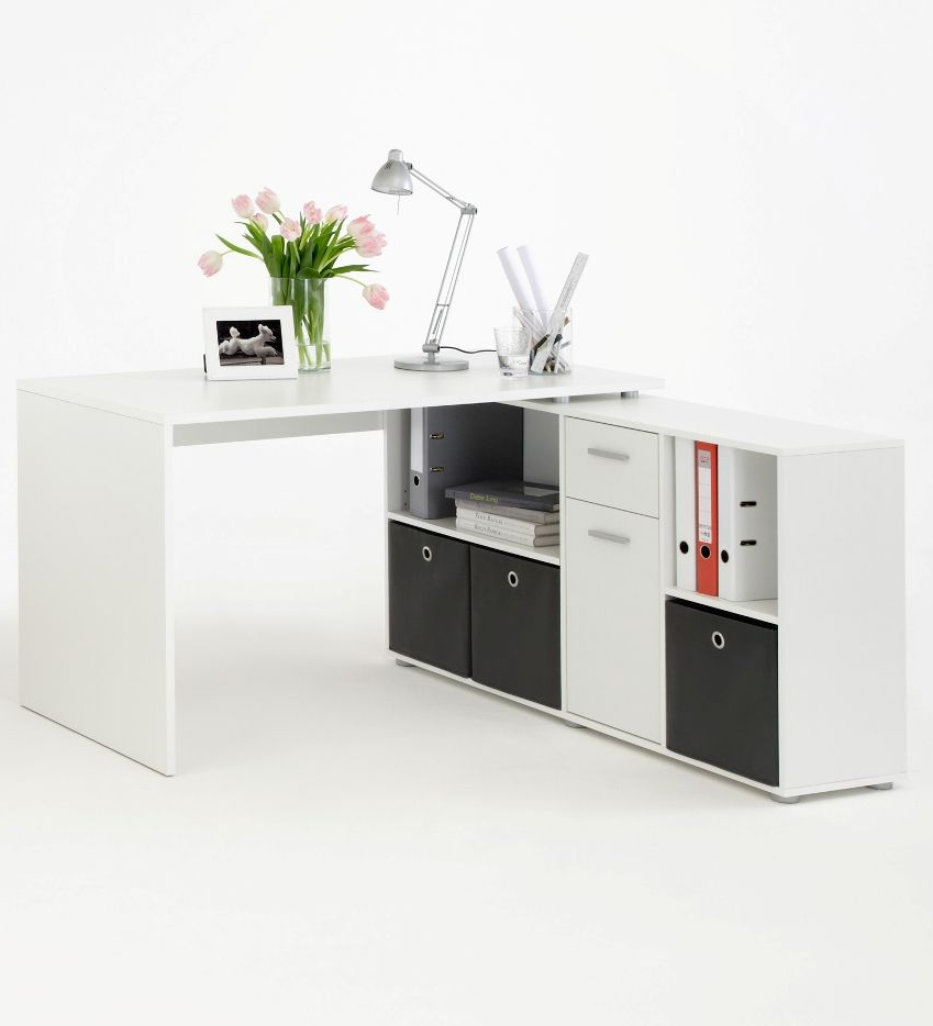Bureau Zito Luna Alpine White Flexi Corner Computer Office Desk In 2019
