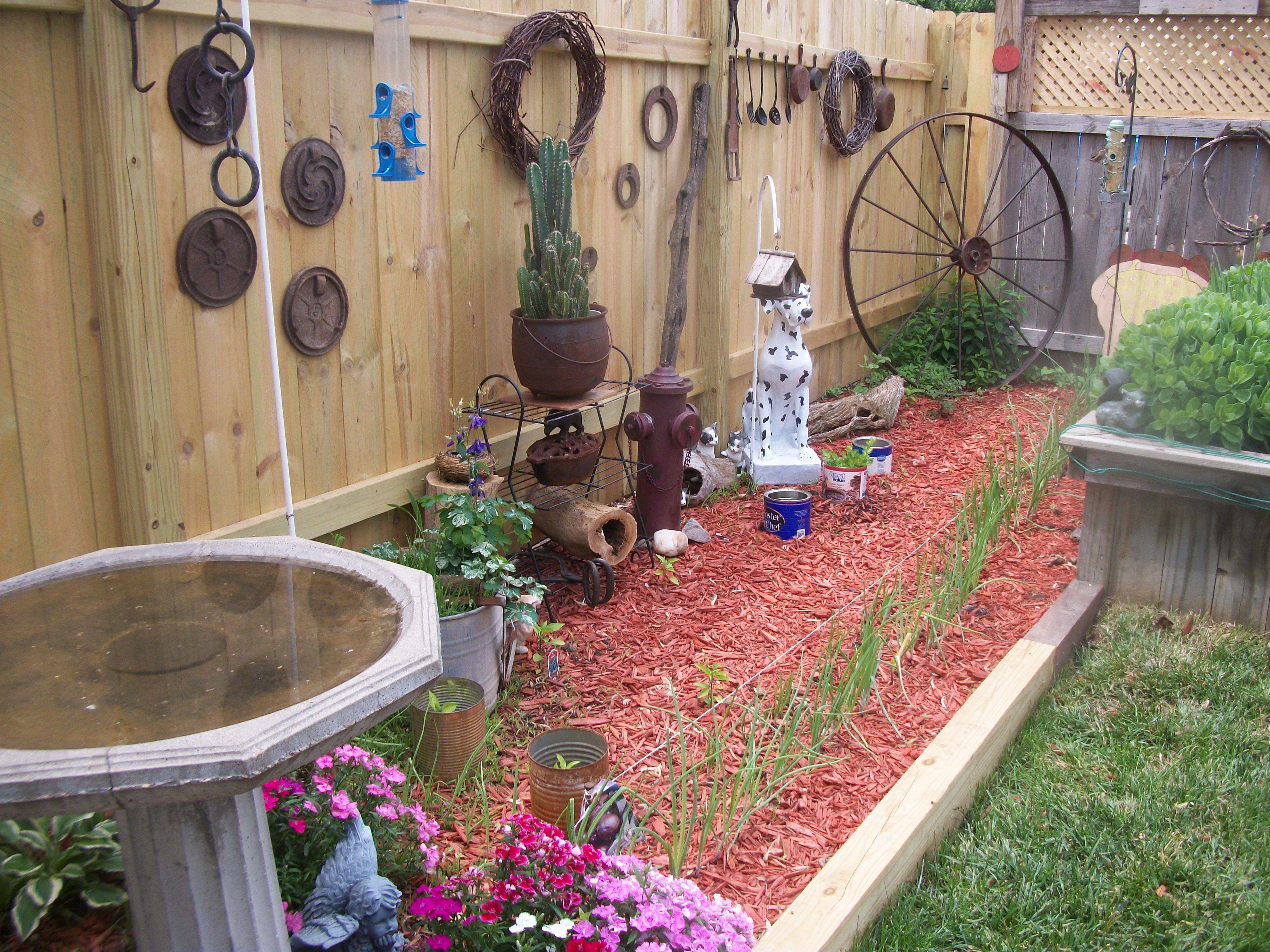 My rustic garden.   Cool home garden ideas   Pinterest