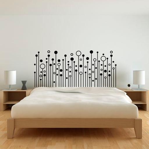 Vinilo decorativo para cabecero de cama formado por for Vinilos cabeceros