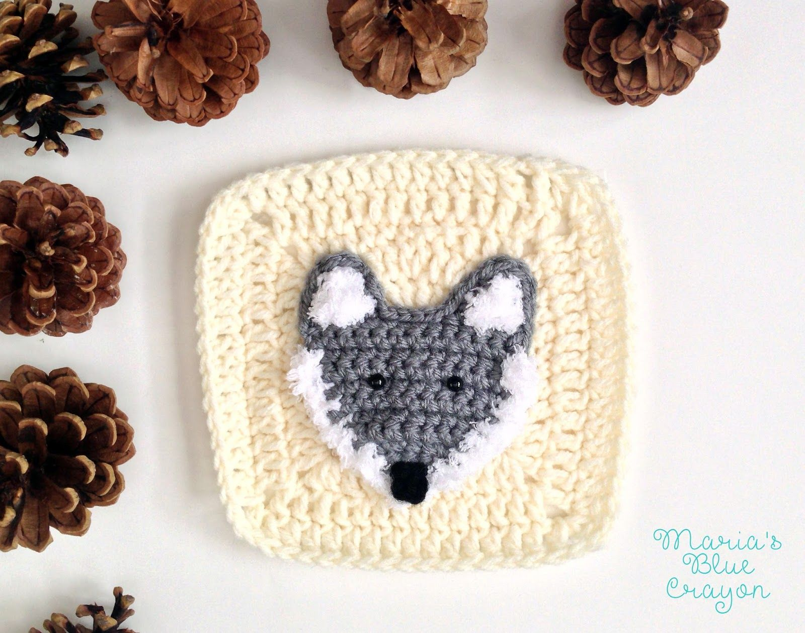 Woodland Wolf Granny Square - Woodland Afghan Series - Free Crochet ...