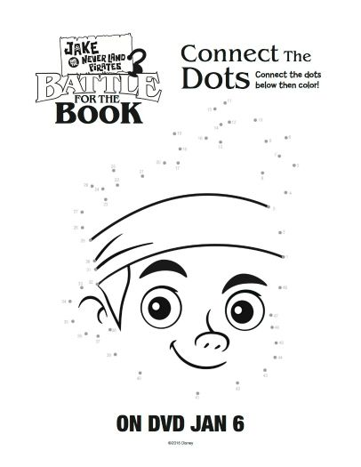 Free Printable Jake And The Neverland Pirates Connect Dots