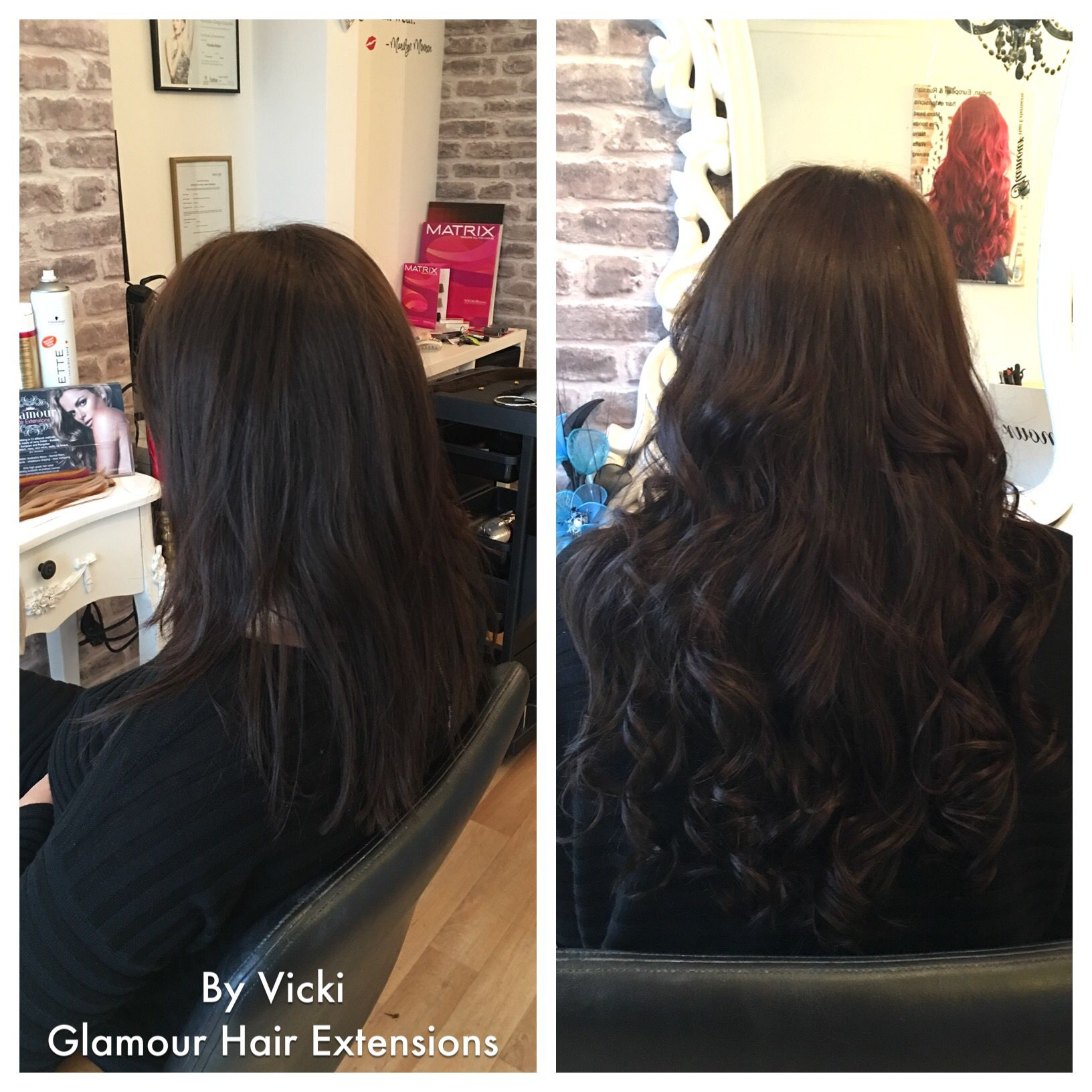 Before And After On The Hair Extensions Micro Bead Microbeads