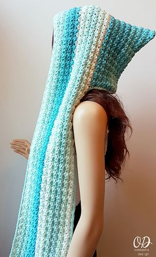 Faerie Mist Hooded Scarf Pattern By Rhondda Mol Oombawka Design
