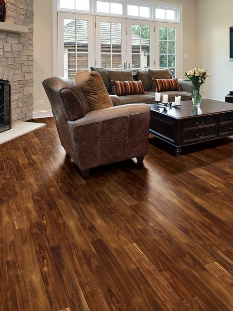 Living room/dining room: acacia wood flooring lowes (With ...