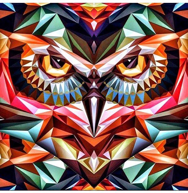⭐️ Follow the artist: @dribblack - ✔️ Found via @thednalife  #artbotic #artist #art #owl #