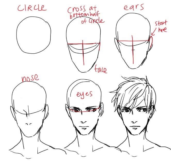 Male Face Male Face Drawing Guy Drawing How To Draw Hair