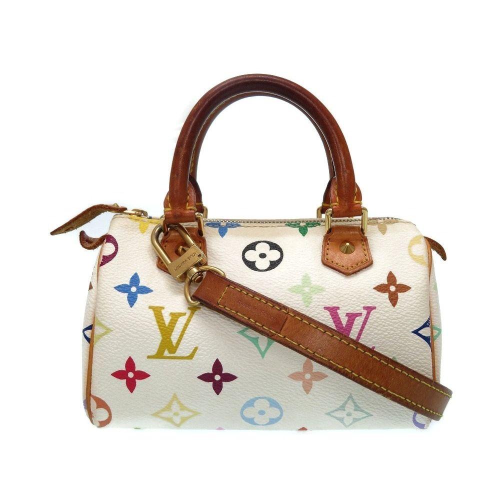 Louis  vuitton Monogram Multicolor Mini Speedy M92645 2way Bag Handbag Lv  0353 cad536fcff499