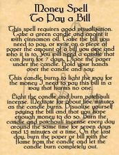 Witches Spell Book Pages   Book of Shadows Page - Money Spell to Pay a Bill - BOS Page - Wicca ...