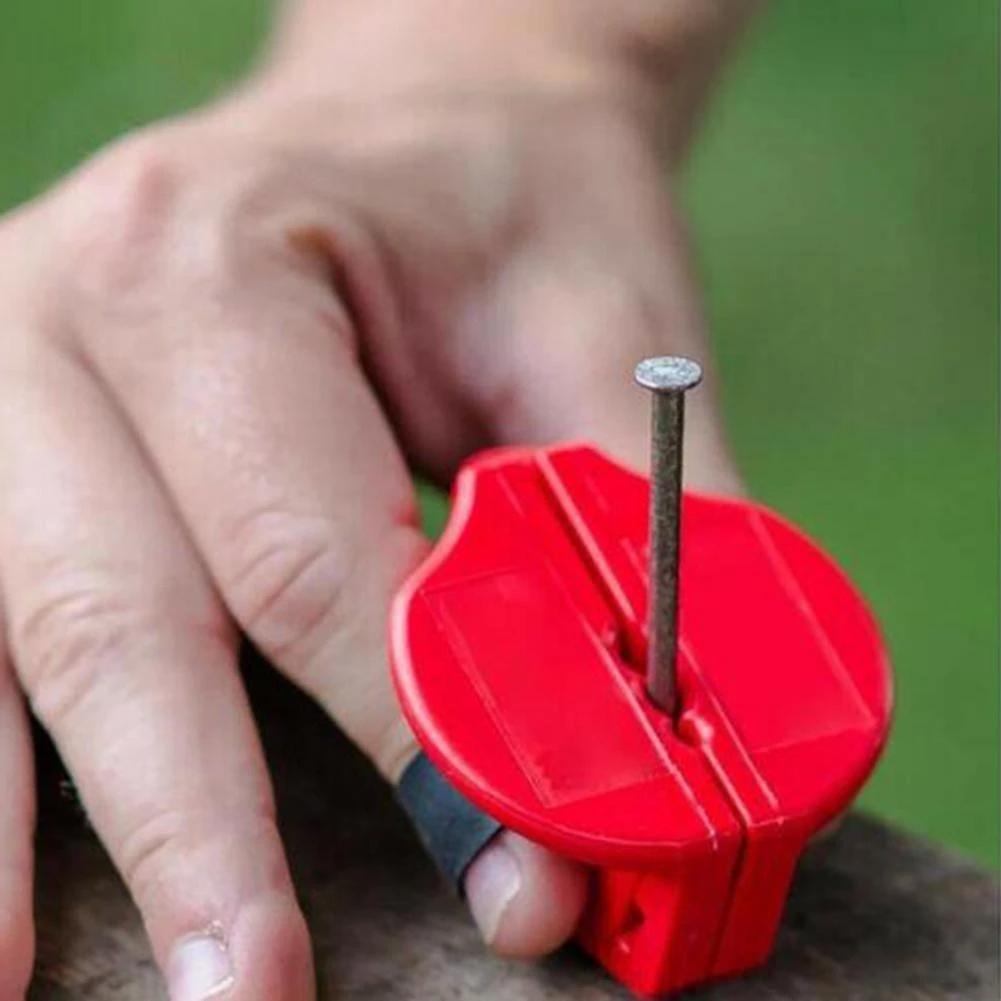 Finger saver safety nail holder