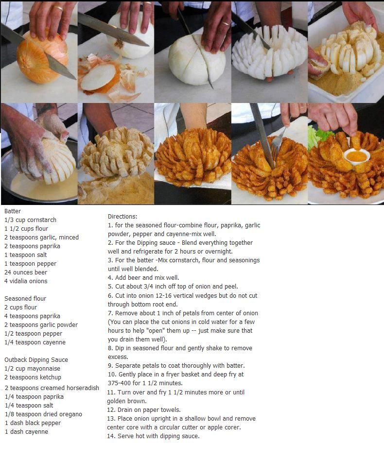 Outback Steakhouse Bloomin Onion Recipe Appitizers Pinterest